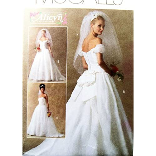 OOP McCalls Pattern M4775 Misses Szs 14161820 Bridal Gown W Train Designs By Alicyn Exclusives