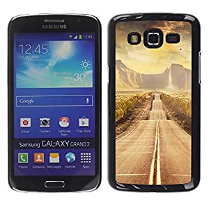 Paccase / SLIM PC / Aliminium Casa Carcasa Funda Case Cover - Road scenery - Samsung Galaxy Grand 2 SM-G7102 SM-G7105