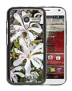 New Custom Designed Cover Case For Motorola Moto X With White Magnolias Flower Mobile Wallpaper Phone Case