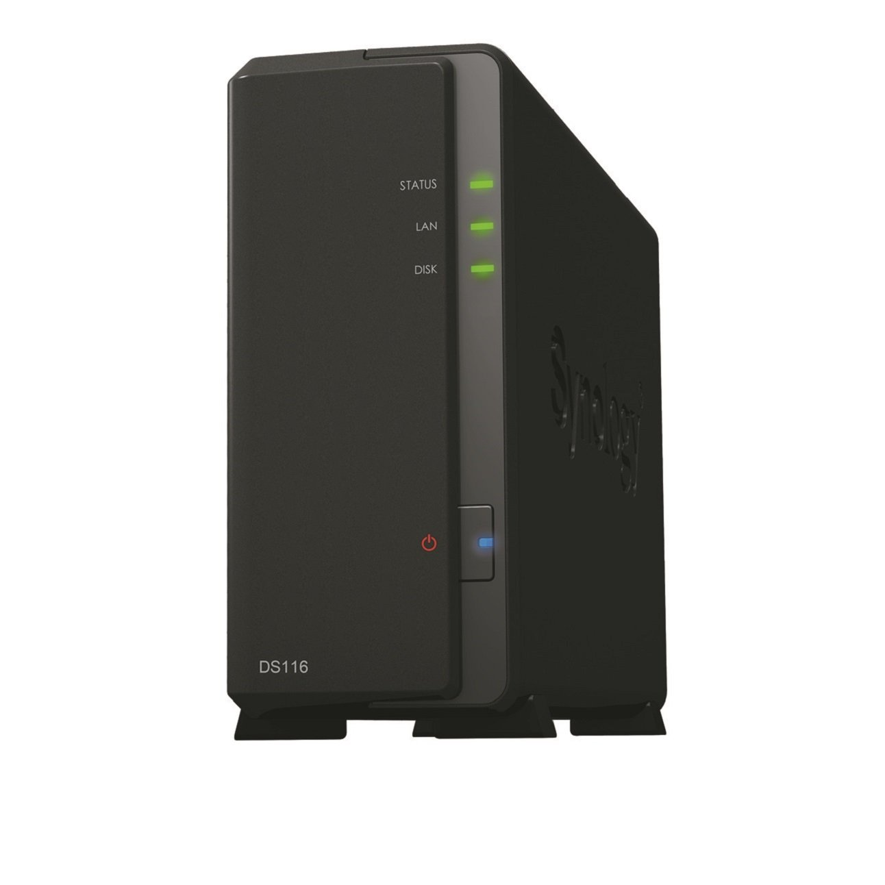 TALLA 1 GB. Synology Serie Value DS116 - Dispositivo de Almacenamiento en Red (GB, 2 Puertos USB 3.0, 1 Puerto LAN Gigabit), Negro