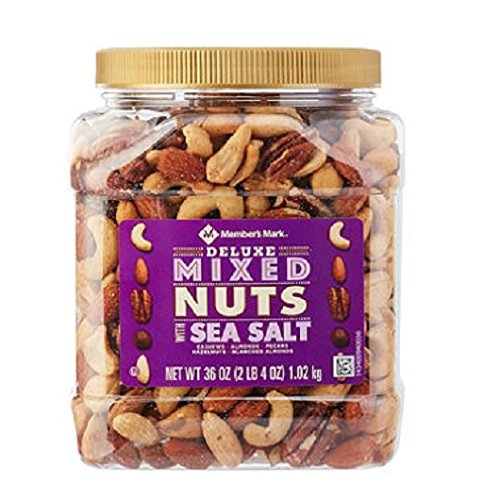 Member's Mark Deluxe Roasted Mixed Nuts with Sea Salt (36 oz.) (pack of 6)