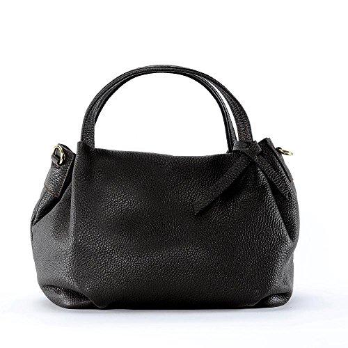OH MY BAG Sac à Main femme cuir - Modèle Bubble Marron Fonce