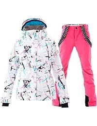Womens Ski Jackets and Pants Set Windproof Waterproof Snowsuit