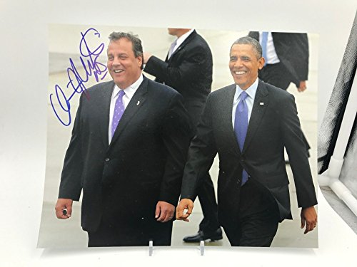 Governor Of NJ Chris Christie Signed Autographed 8x10 Photo Picture