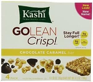 Kashi GOLEAN Bar Crunchy! Crunchy, Chocolate Caramel (1.59-Ounce), 4-Count  Bars (Pack of 6)
