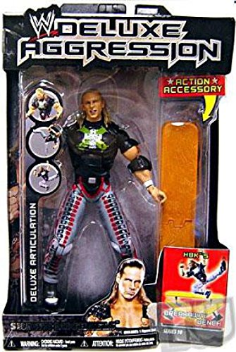 WWE Wrestling DELUXE Aggression Series 10 Action Figure Shawn Michaels with Break-Away Bench