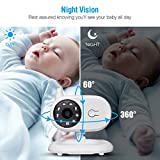 "FirstPower Video Baby Monitor with Camera, Infrared Night Vision, Two-Way Talk Back, 3.5"" LCD Screen, Temperature Detection, Lullabies, Long Range, Private Data Protection and High Capacity"