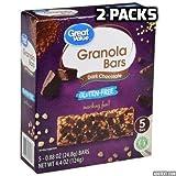 Great Value Gluten-Free Granola Bars, Dark Chocolate, 4.4 oz, 5 Count (2 packs)
