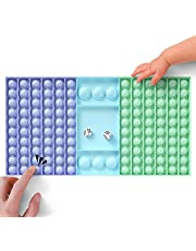 Balamii Big Pop Game Sensory Toy,Rainbow Chess Board Sensory Toy,Interactive Jumbo Stress Relief Toy,Autism Special Needs Stress Reliever Toy,Parent-Child Interactive Game Toys for Kids Teen.