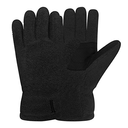60 Gloves (Igloos Boys C40 Thinsulate Insulation Microfleece Gloves, Anthracite, Medium/Large/60cm)