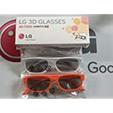 2 Pairs LG 3D TV Passive Glasses for HDTVs Cinema 3D AG-F200 Retail Box Bundle w/ CLEANING CLOTH!!