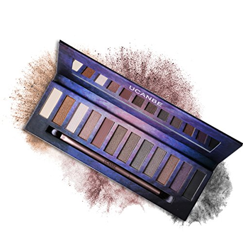 Professional Matte Shimmer Eye Shadow Palette - 12 Highly Pigmented Naked Neutral Natural Nude Shades with EyeShadow Blending Applicator Ucanbe (edition 2)