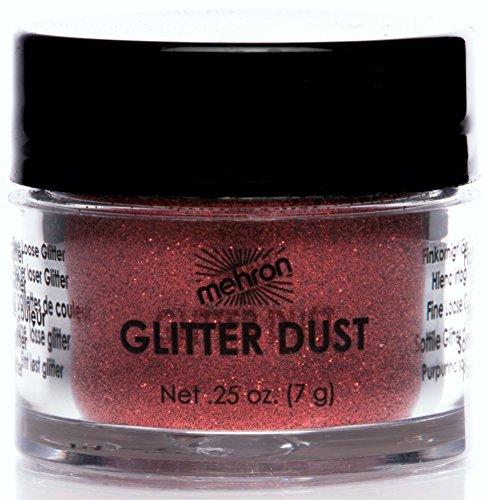 Mehron Glitter - Mehron Makeup GlitterDust Face & Body Paint, DYNAMITE RED - .25oz Carded