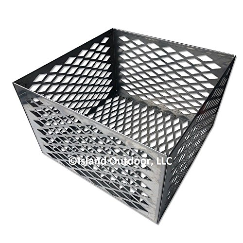 Outdoor Accessories Baskets Bbq Cooking (TimmyHouse Charcoal basket fire box Oklahoma Joe longhorn highland BBQ Smoker STAINLESS)