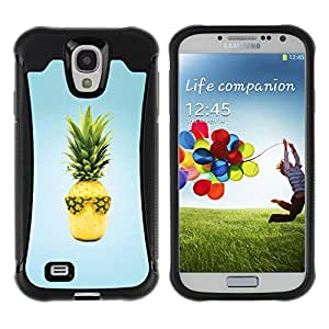 Pulsar Defender Series Tpu silicona Carcasa Funda Case para SAMSUNG Galaxy S4 IV / i9500 / i9515 / i9505G / SGH-i337 , Fruit Design Cool Pineapple