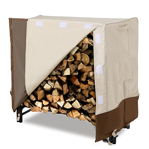 SONGMICS Heavy Duty Log Rack Cover Waterproof Firewood Cover 4ft UGLC48M