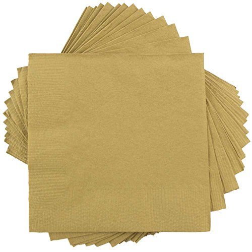Gold Accent Lunch (JAM Paper Medium Lunch Napkins - 6 1/2