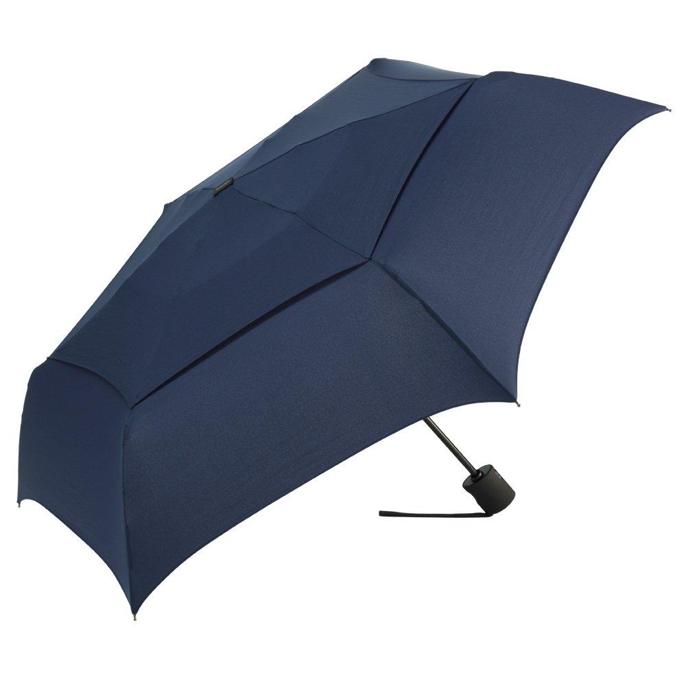 シェッドレイン 自動開閉 強風対応 3段 折りたたみ傘 ブルー B000FCFBD4