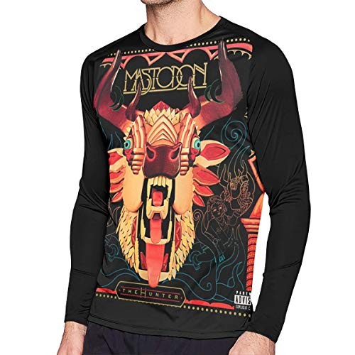 Kooiico Mens Vintage Mastodon The Hunter Long Sleeve Raglan Baseball Tshirts S Black ()