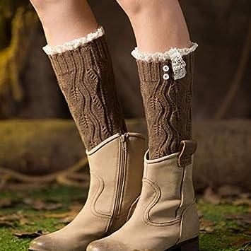 Calentadores de la pierna de la mujer calcetines d Europa y los Estados Unidos calcetines de
