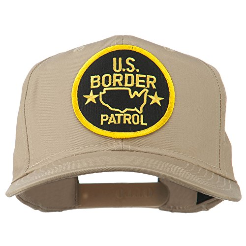 e4Hats.com US Border Patrol Embroidered Patch Cap - Khaki OSFM ()