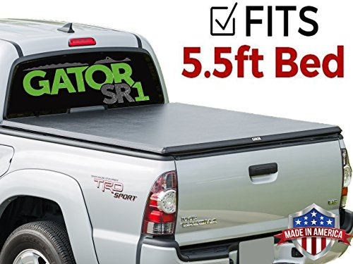 Gator SR1 Roll-Up (fits) 2004-2015 Nissan Titan 5.5 FT Bed w/Utili Track Only Soft Roll Up Tonneau Truck Bed Cover (55403) Made in the USA (Titan Utili Nissan Track)