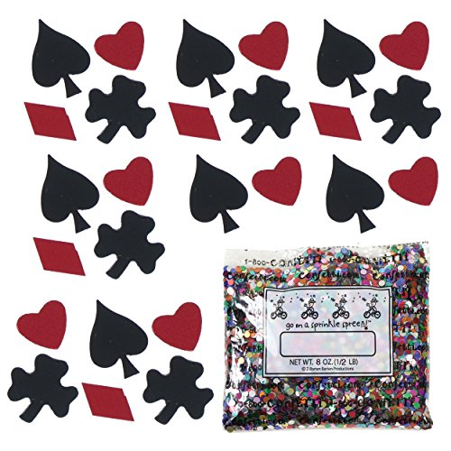 Confetti MultiShape Black Jack Mix - Half Pound Bag (8 oz) FREE SHIPPING --- - Bag Jimmy Black