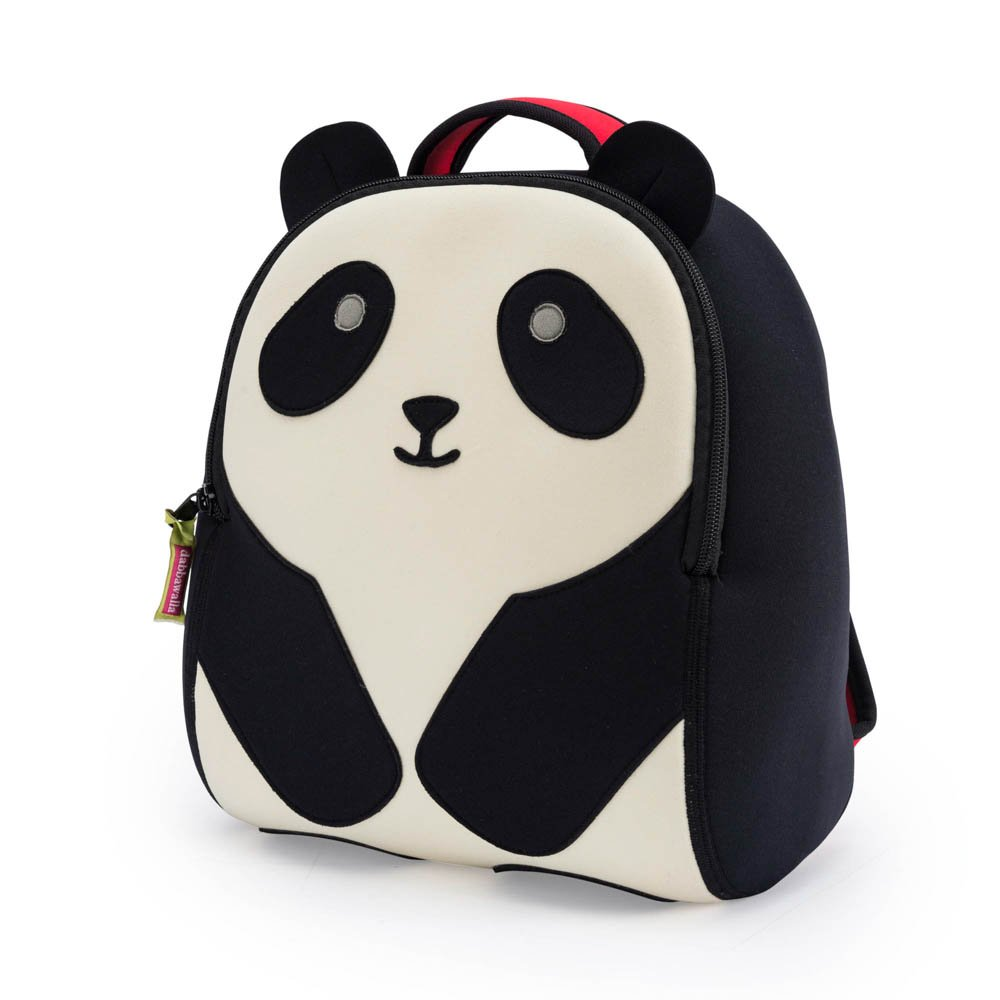 Dabbawalla Bags Preschool & Toddler Panda Backpack, Black/White BPABP