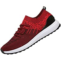 ROMENSI Men's Knit Lightweight Running Shoes Soft Sole Casual Athletic Tennis Walking Sneakers US6.5-12