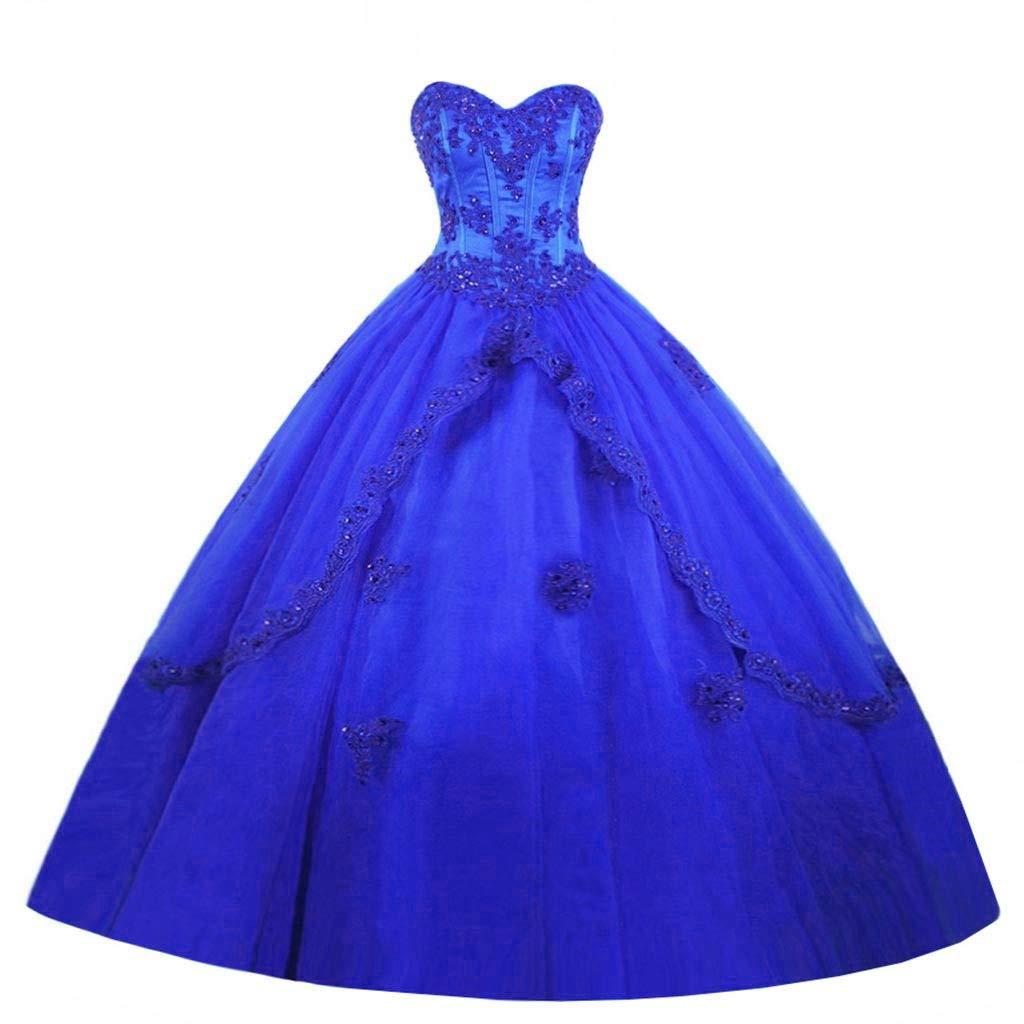 bluee Vantexi Women's Elegant Long Quinceanera Dresses Sweet 16 Ball Gowns