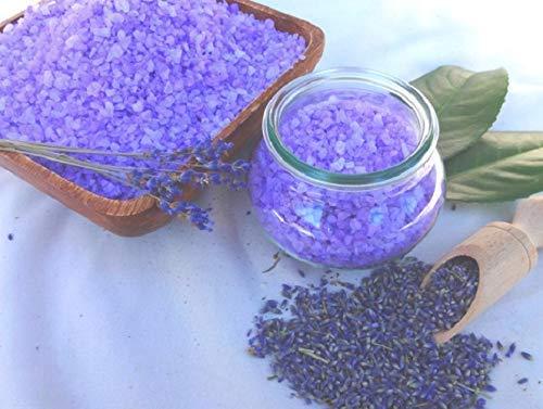 Badesalz Lavendel im Schmuck WECK-Glas, ohne Palmö l, von kleine Auszeit Manufaktur