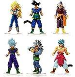 6PCS/Set 15 CM Dragon Ball Z Action Figure Toys Super Saiyan Vegeta Son Goku Kakarotto PVC Toys For Kids Christmas Gift