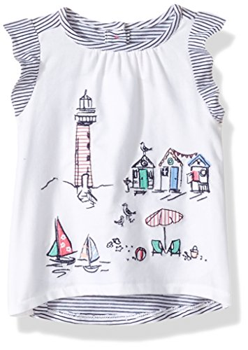 Gymboree Baby Toddler Girls' Lighthouse Scenic Knit Top, White, 4T