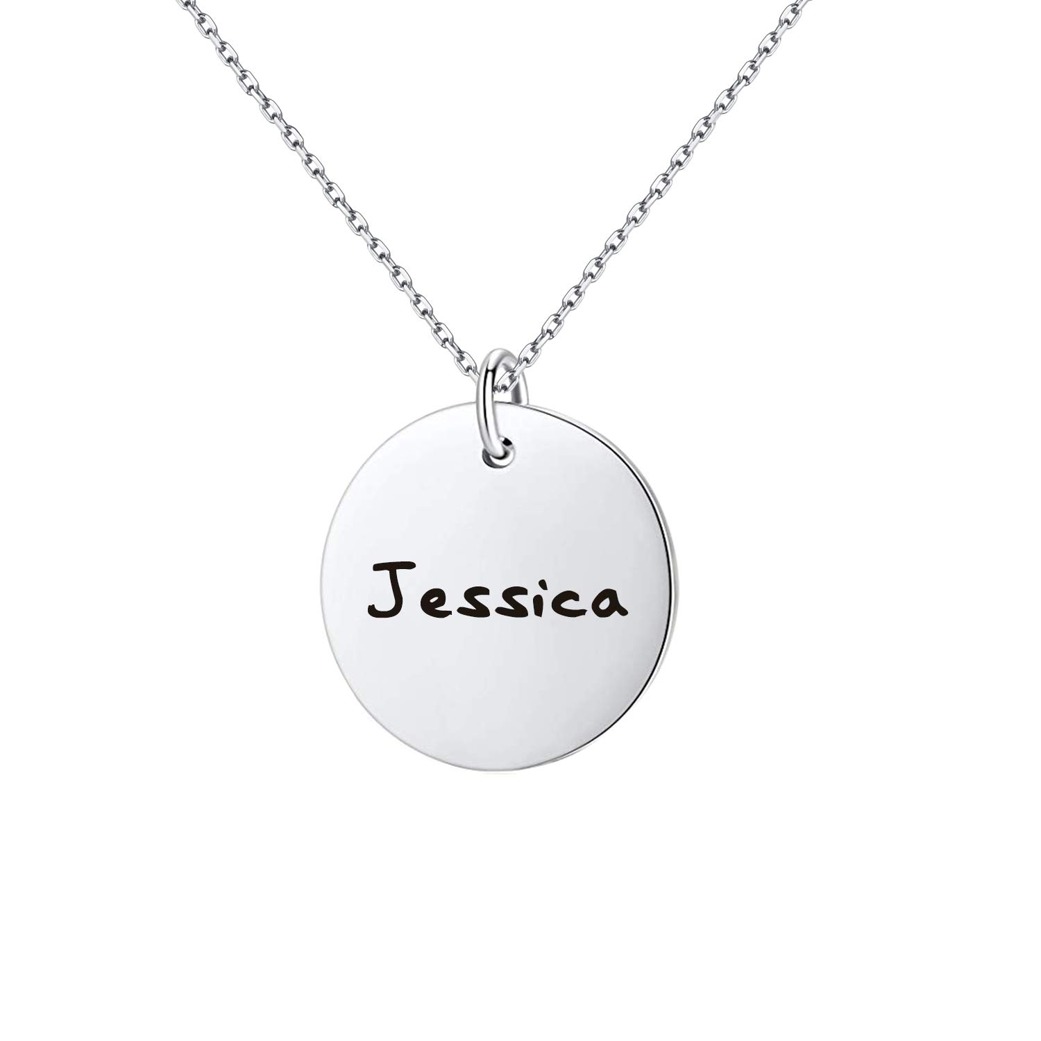 1f68ff33ee801 Amazon.com  Yoke Style Family Name Necklace Personalized