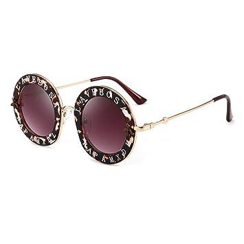 Gafas De Sol.La Moda Retro Gafas Redondas Letras En Inglés ...