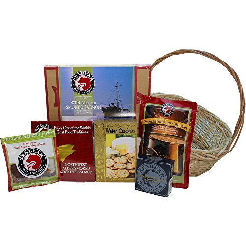 Smoked Salmon Seafood Lovers Red Gourmet Food Gift Basket