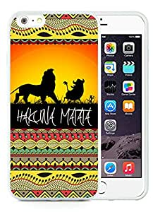 Personalized Hard Shell hakuna matata 1 Unique Custom White Case For iPhone 6 Plus,iPhone 6s Plus 5.5 Inch TPU Case