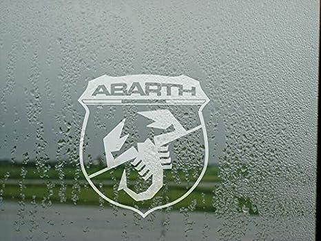 Myrockshirt Abarth Skorpion Mit Schriftzug Scorpion Logo Zeichen Emblem 15cm Aufkleber Sticker Decal Autoaufkleber Uv Waschanlagenfest Profi Qualität Auto