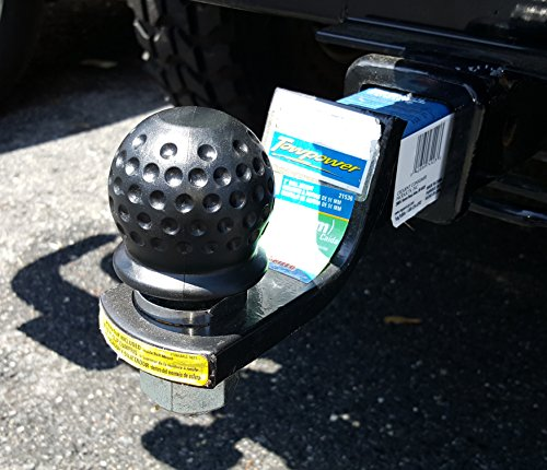 Trailer Hitch Ball Cover (Sports Imports SIL-JHT-07 Golf Ball Tow Cover for Trailer Hitch Receiver, Black)