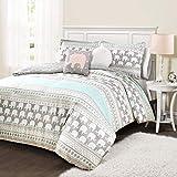 Lush Decor Elephant Stripe 4 Piece Comforter