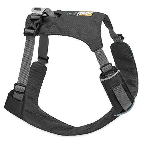 RUFFWEAR - Hi & Light Lightweight Dog Harness, Twilight Gray, Medium - D-ring Freedom Harness