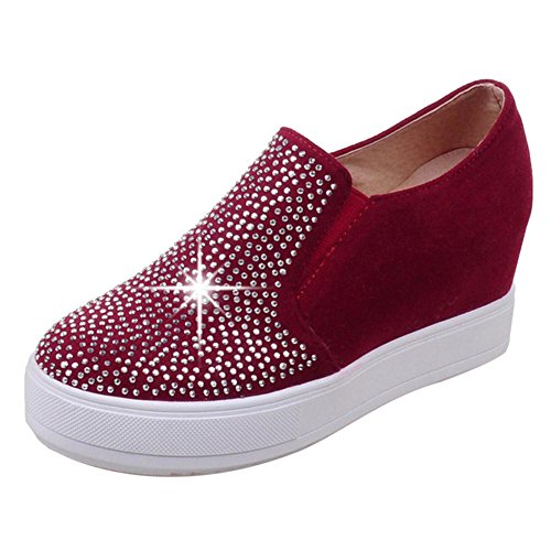 talons à Chaussures TAOFFEN pour cachés femme rouge TS8waq