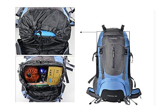 zaino trekking Maschio / Femmina 45L / 60L / 65L di alpinismo del sacchetto / borsa a spalla / Viaggi multifunzionale zaino impermeabile esterna Zaini da escursionismo ( Colore : D , dimensioni : 45L-