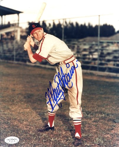 (Marty Marion (D. 2011) Autographed/ Original Signed 8x10 Photo Showing Him With the St. Louis Cardinals - JSA AUTHENTICATION STICKER !!!)