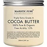 Majestic Pure Cocoa Butter, Organic, Raw, Unrefined Premium Grade Cocoa Butter - 8 oz …
