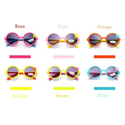 P & R Child Sun Glasses Kids Fshion Girl's Cute Candy Color Cartoon Kitty Goggles