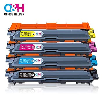 OFFICE HELPER TN-241 TN-242 TN-245 TN-246 Cartuchos de Tóner Compatibles con Impresoras Brother DCP-9015CDW DCP-9017CDW DCP-9020CDW DCP-9022CDW ...