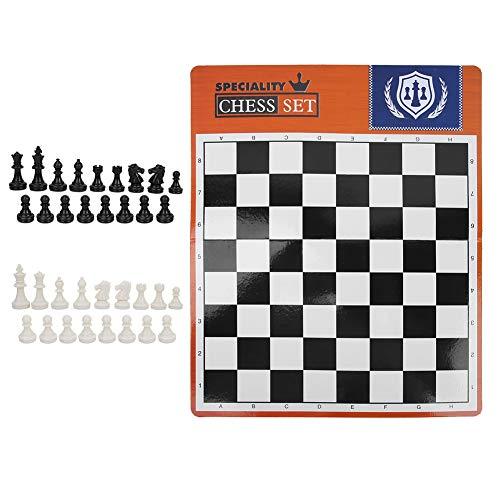 International Chess Set, Plastic International Chess Board Set Juegos de Mesa portátiles para Fiestas, Viajes, Ocio y…
