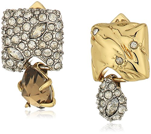 Alexis Bittar Gold Ring (Alexis Bittar Fall 2017 Mismatched 10k Gold with Rhodium Stud Earrings)