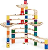 Hape Quadrilla Wooden Marble Run Construction - The Challenger - Quality Time Playing Together Wooden Safe Play - Smart Play for Smart Families
